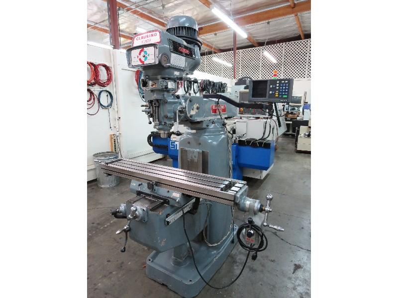 MILLING MACHINES - MANUAL: CLAUSING KONDIA FV-1 PRECISION